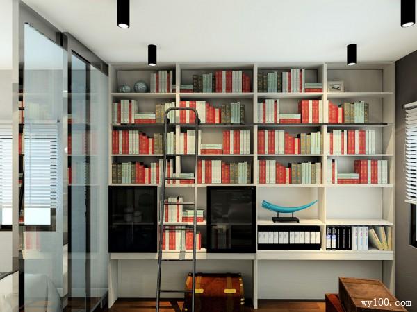 欧式书柜客餐厅装修效果图
