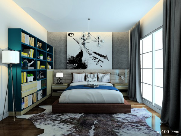 现代风格卧室 小功能大空间是室内设计首选_维意定制家具商城