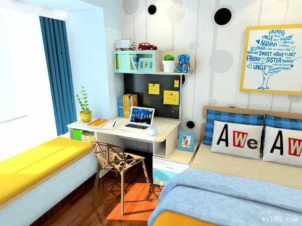 多功能柜体设计儿童房 12平满足小孩需求_维意定制家具商城