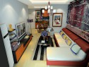 客餐厅装修效果图 25�O充斥着年轻的活力_维意定制家具商城