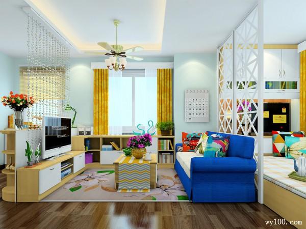 客厅装修效果图 43�O温馨舒适自然_维意定制家具商城