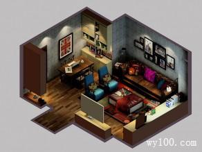 客餐厅装修效果图 20�O超强定制型柜体_维意定制家具商城