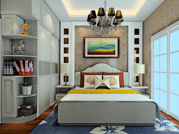 吊顶卧室装修效果图 11�O利用率高。温馨简约_维意定制家具商城