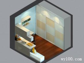8�O凹凸位利用书房设计效果图_维意定制家具商城