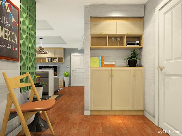 客厅电视背景墙效果图 28�O吧台分割空间_维意定制家具商城