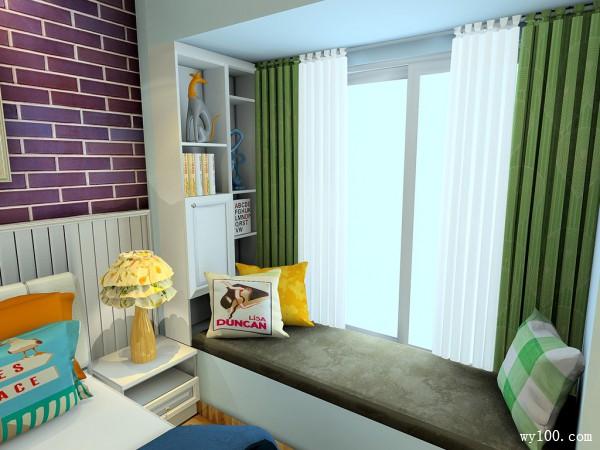 11�O带飘窗背景墙卧室设计效果图_维意定制家具商城