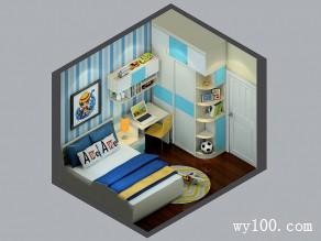 8�O可爱贴图儿童房设计效果图_维意定制家具商城