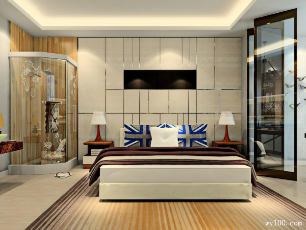 卧室装修效果图 26�O整体空间大气温馨_维意定制家具商城