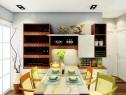 简欧客厅餐厅一体效果图 33�O整体舒适自然清新_维意定制家具商城