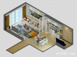 63�O一柜多用客餐厅设计效果图_维意定制家具商城