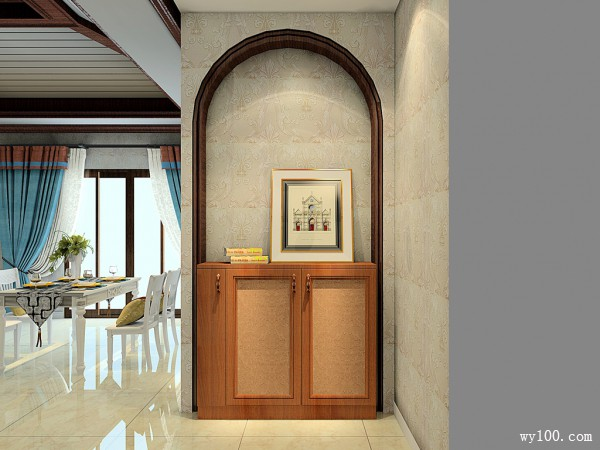 93�O地中海客餐厅设计效果图_维意定制家具商城