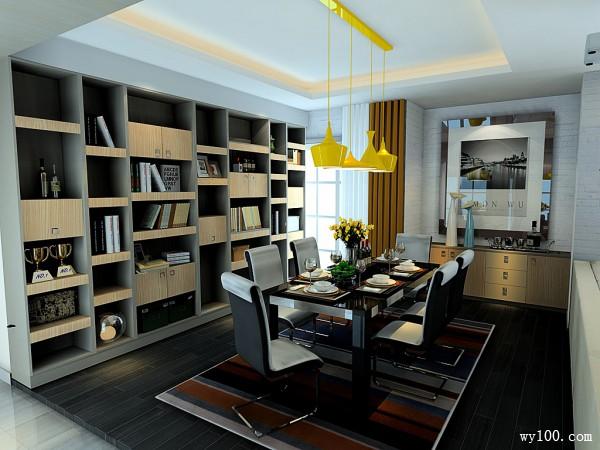 客餐厅装修效果图 100�O增加收纳功能_维意定制家具商城