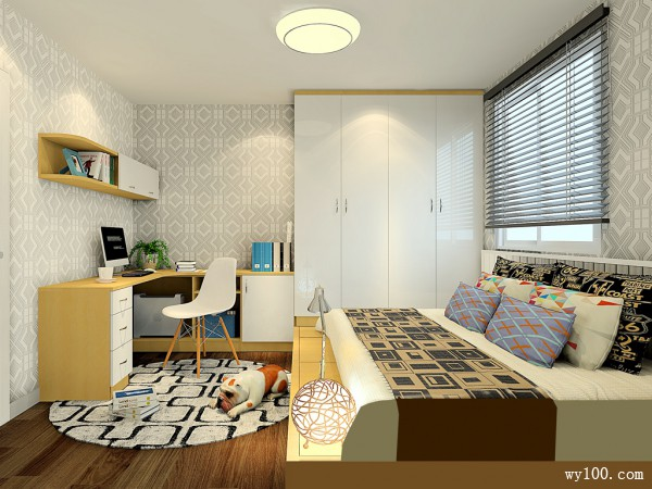榻榻米简约多种功能卧房效果图_维意定制家具商城