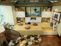 日式风格书房 榻榻米与书架拼搭温馨和谐_维意定制家具商城