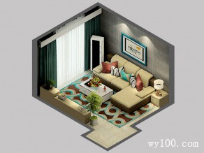 客餐厅装修效果图 37�O空间舒适清晰_维意定制家具商城