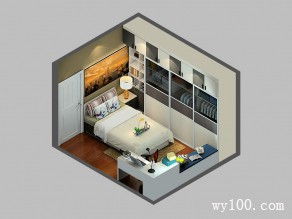 卧室装修效果图 11�O增加储物功能_维意定制家具商城