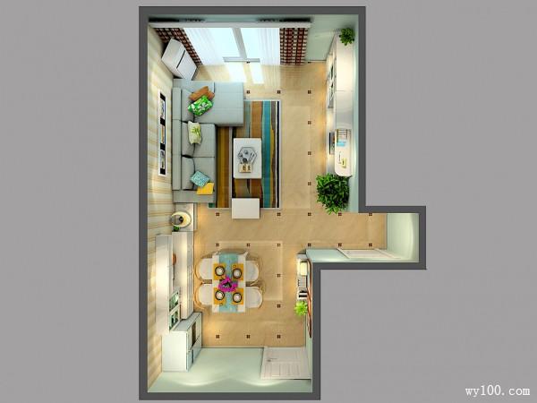 客餐厅装修效果图 39�O流露着田园的气息_维意定制家具商城