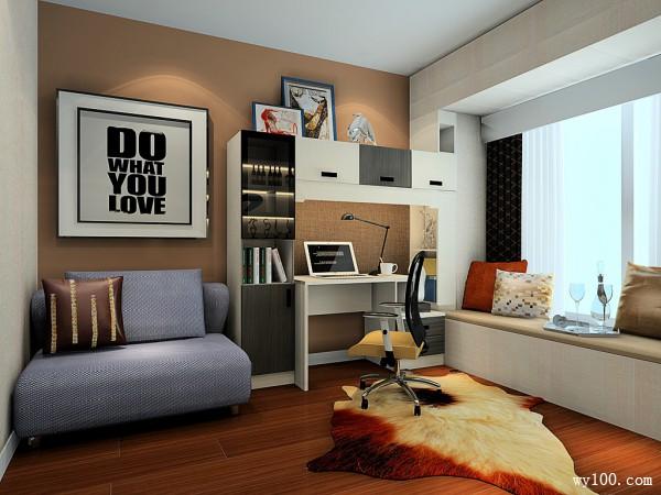 书房装修效果图 9�O书柜组合美观实用_维意定制家具商城