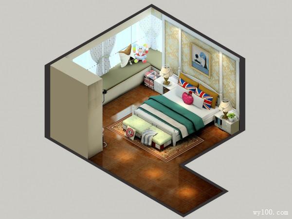 卧室装修效果图 18�O满足女孩大量的衣物收纳_维意定制家具商城