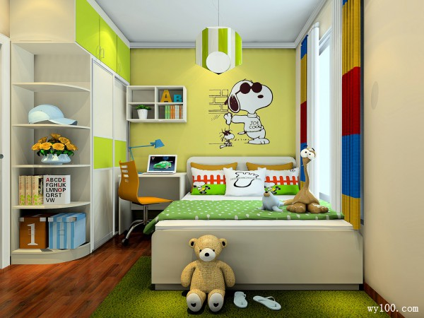 时尚吊柜儿童房装修效果图