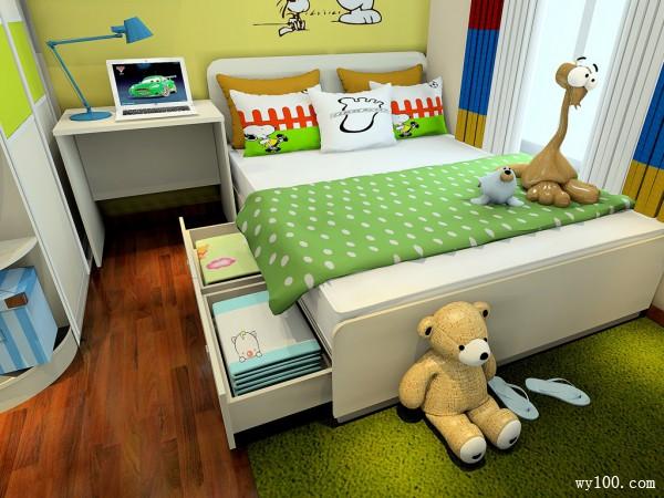 现代榻榻米儿童房装修效果图