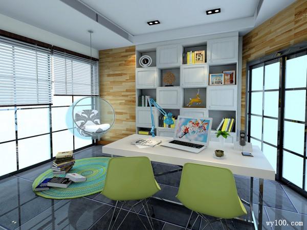 田园书桌书房装修效果图