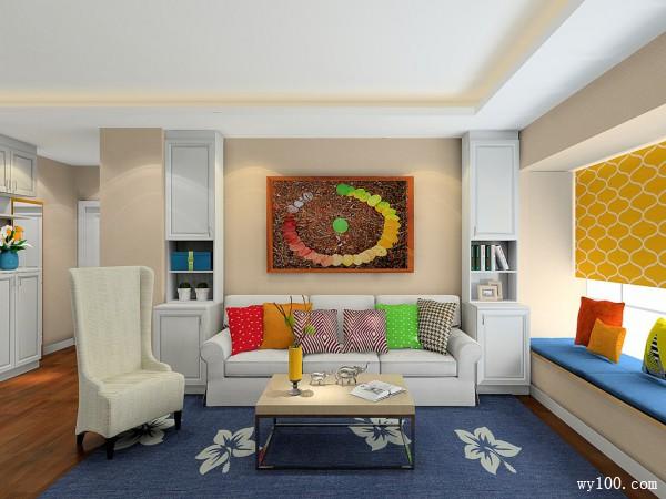 田园客餐厅 白色为主调凸显自然舒适感_维意定制家具商城