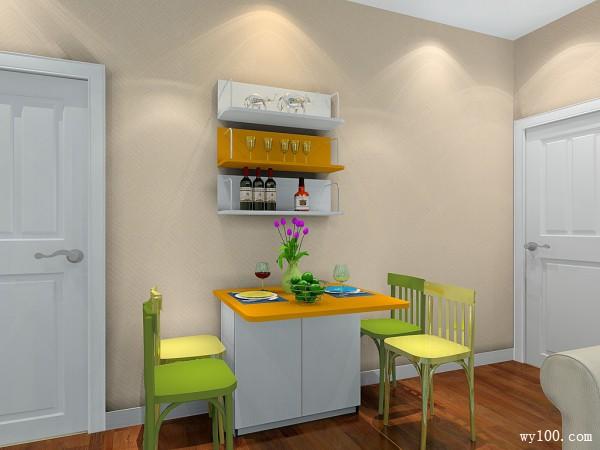 田园式客餐厅 暖色调给人温馨幸福感_维意定制家具商城