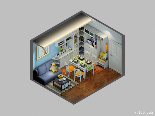 客餐厅装修效果图 13�O组合柜体增加储物_维意定制家具商城