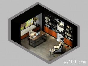 现代经典书房 深沉色彩添上稳重性_维意定制家具商城
