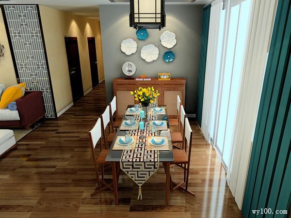 客餐厅装修效果图 59�O现代而又古香古色_维意定制家具商城