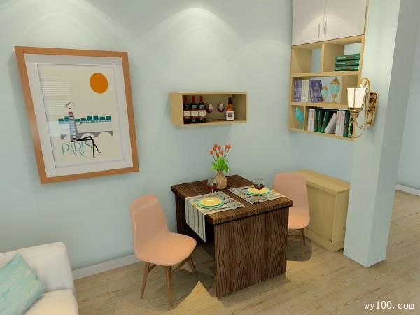 客餐厅装修效果图 22�O整个空间温馨怡人_维意定制家具商城