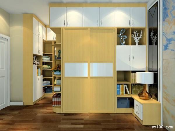 现代卧室效果图 16平分工明确收纳有序_维意定制家具商城