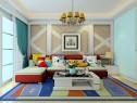 田园客餐厅 百叶形式面板和简约角线造型显大方_维意定制家具商城