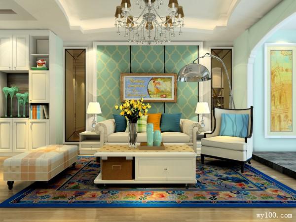 客餐厅装修效果图 34�O清新的格调为主_维意定制家具商城