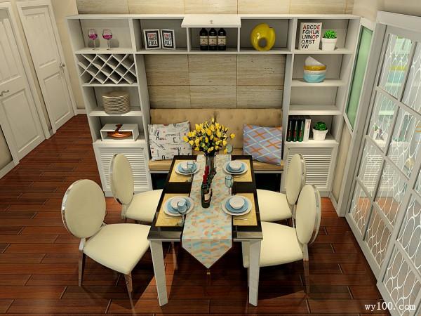 欧式客餐厅效果图 色彩搭配呈现温馨田园家居氛围_维意定制家具商城