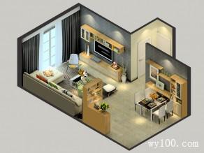 现代简约客餐厅效果图 29�O灰绿色系自然点缀_维意定制家具商城