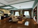 客餐厅装修效果图 36�O美式田园的稳重自然_维意定制家具商城