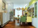 现代简约客餐厅 硬装搭配整个空间既活力而又现代_维意定制家具商城
