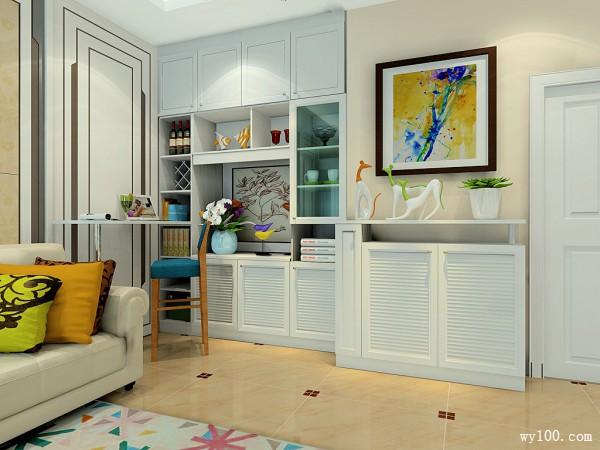 简欧客餐厅效果图 暖色调搭配给人清新自然舒适感_维意定制家具商城