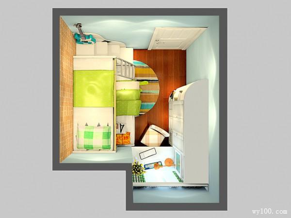 田园卧室 柜体结合尖角问题加大空间存储_维意定制家具商城