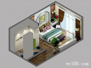 田园风卧室 简约电视柜造型对应着床丰富饱满_维意定制家具商城