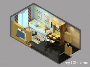 客餐厅装修效果图 27�O空间现代简洁_维意定制家具商城