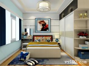 卧室装修效果图 17�O整体空间时尚简约_维意定制家具商城