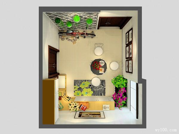 进门玄关客餐厅效果图 11�O空间色彩活泼温馨_维意定制家具商城