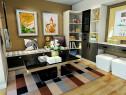 客餐厅装修效果图 13�O整体空间时尚简约_维意定制家具商城