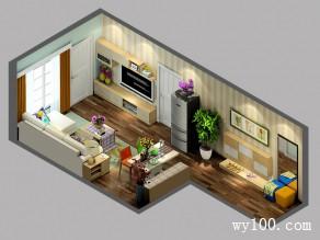 客餐厅装修效果图 28�O整体年轻活泼_维意定制家具商城