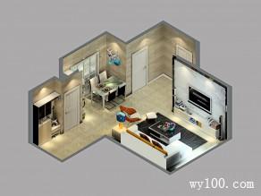 客餐厅装修效果图 20�O整体风格时尚简约_维意定制家具商城