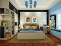 简约现代客餐厅 黑白经典搭配使卧室理性而沉静_维意定制家具商城