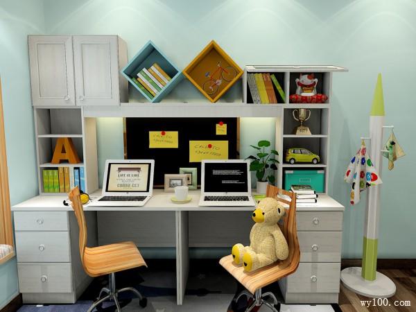 舒适人性化儿童房设计效果图_维意定制家具商城